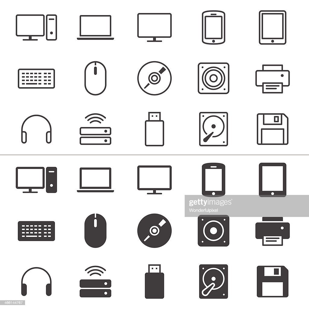 Computer thin icons