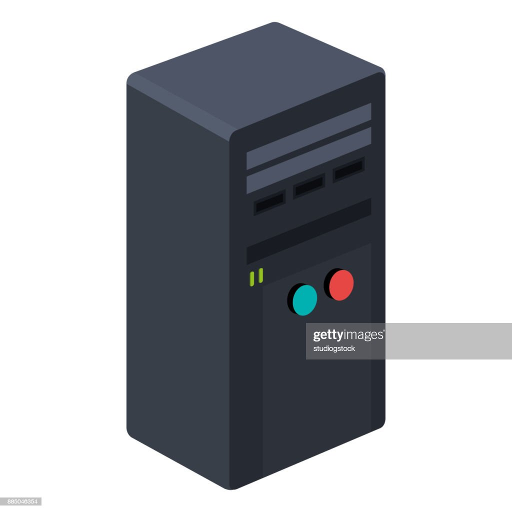 computer tower isolated icon