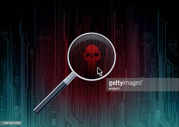 computer virus background vector illustration - scammer stock illustrations