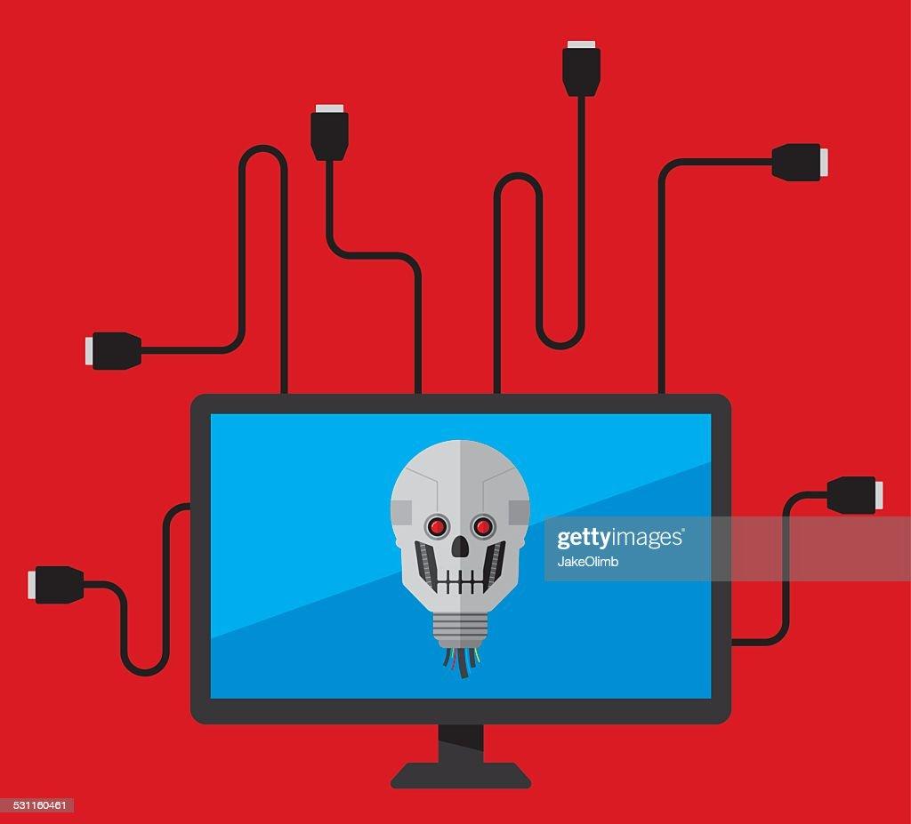 Computer Virus : stock illustration