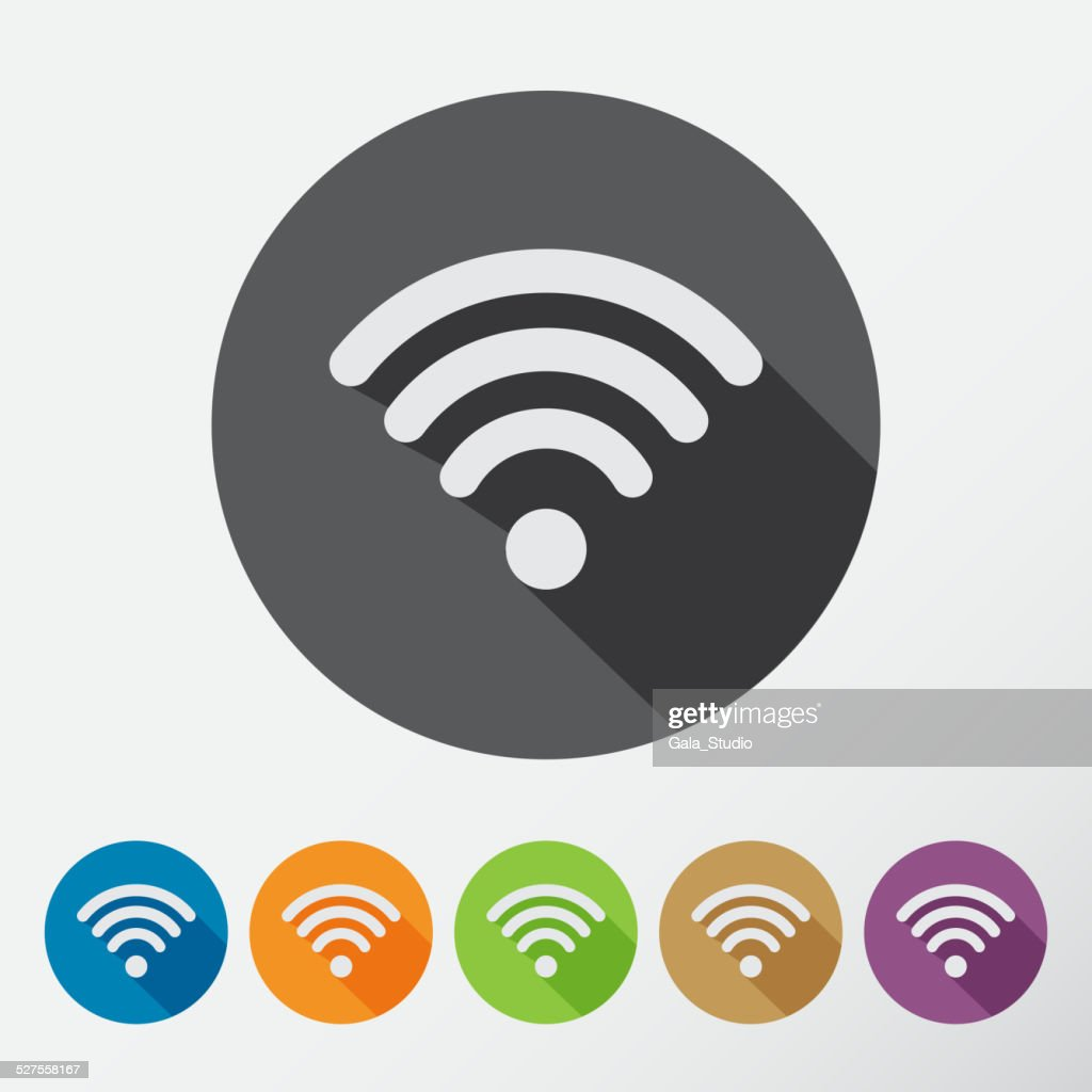 Computer wifi connection icons set for phone or mobile device