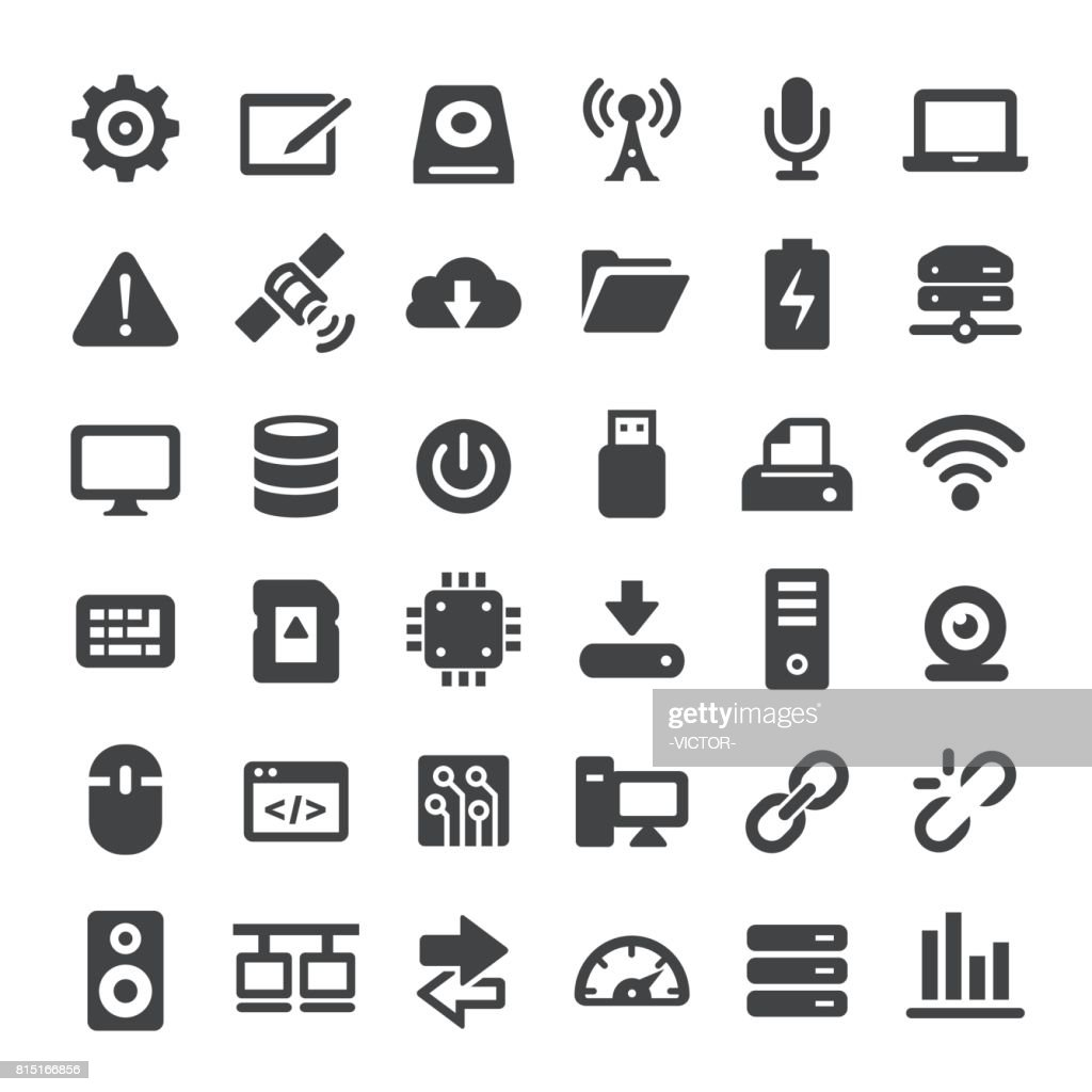 Computers and Technology Icons - Big Series : stock illustration