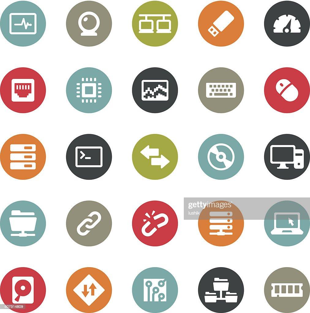 Computers icons / Ringico series