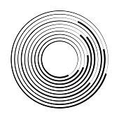Concentric circle geometric element. Vector illustration