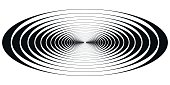 concentric circle oval resonance waves
