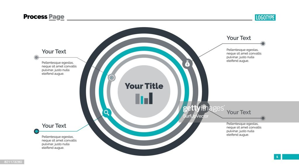 Concentric Circles Diagram Slide Template Vector Art Getty Images
