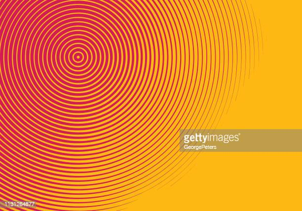 concentric halftone pattern abstract background - spiral stock illustrations