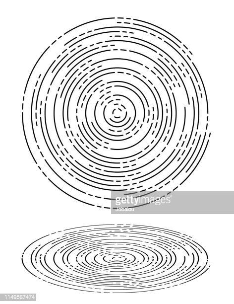 concentric ripples waves circles - ring stock illustrations