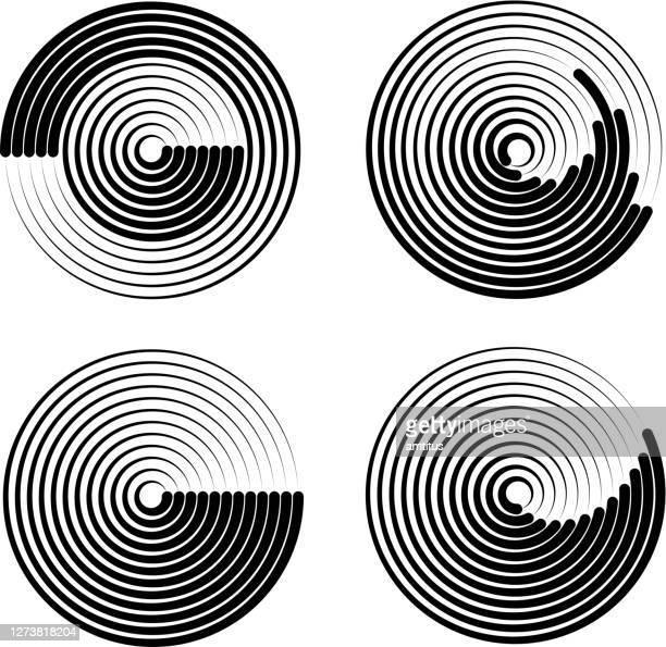 concentrics - ultrasound scan stock illustrations