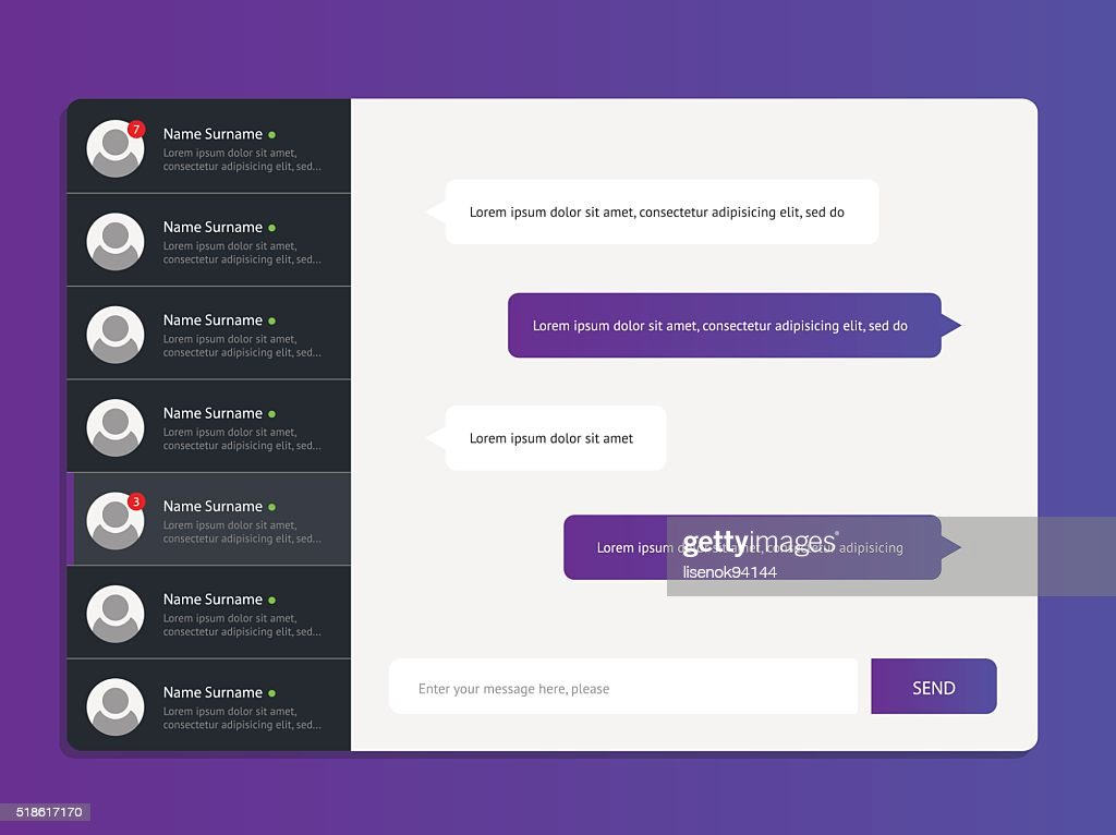 Concept chat messages
