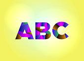 ABC Concept Colorful Word Art Illustration