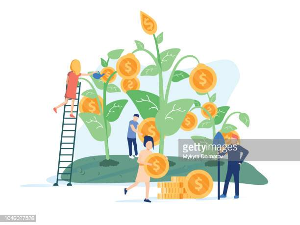 Concept company is engaged in the joint construction and cultivation of money cash profits for presentation, social media.
