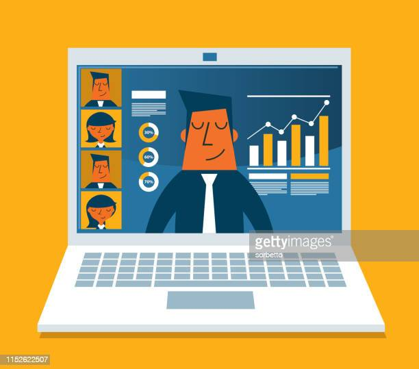 concept for video conference - web conference stock illustrations
