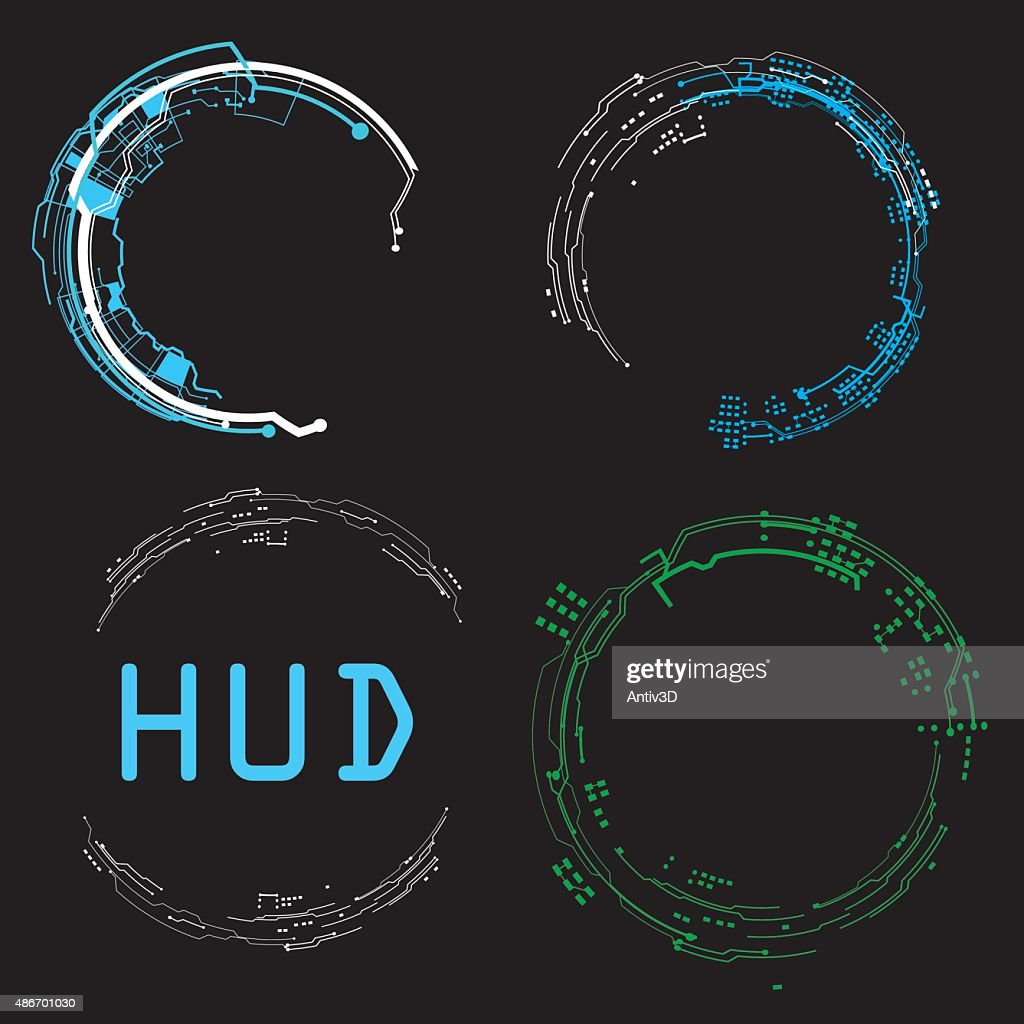concept futuristic virtual graphic touch user interface HUD.