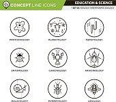 Concept Line Icons Set 5 Biology