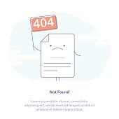 Concept of 404 Error or File not found Page