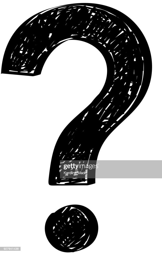 Concept of a hand drawn question mark - icon. Vector.