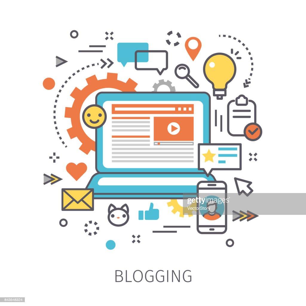 Concept of blogging.