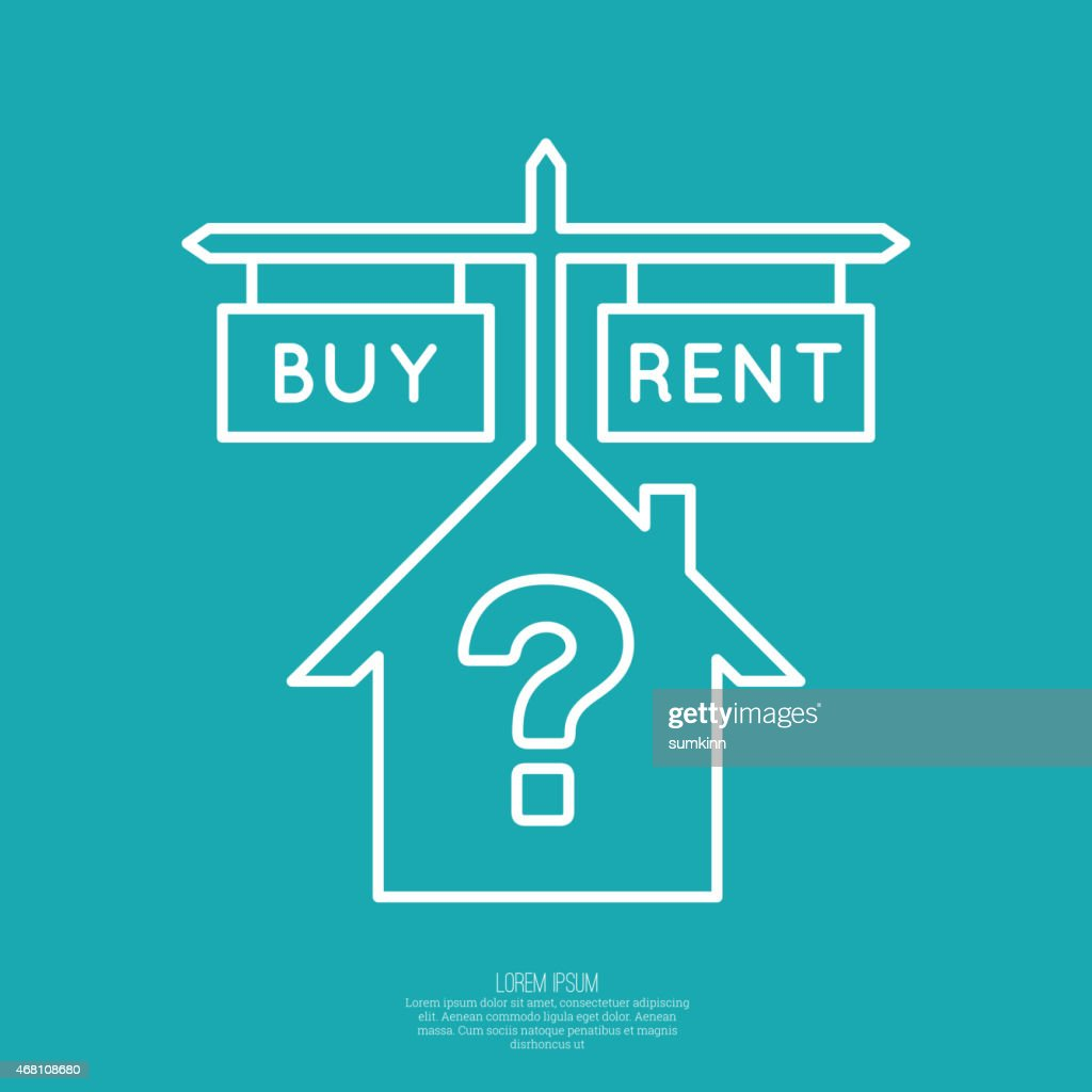 Concept of choice between buying and tenancy