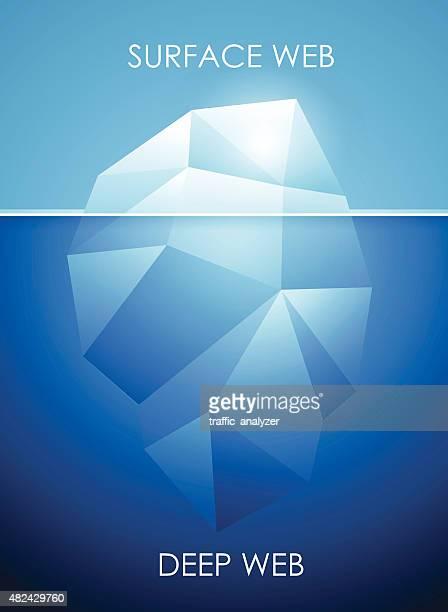 ilustraciones, imágenes clip art, dibujos animados e iconos de stock de concepto de profunda web-iceberg - deep web