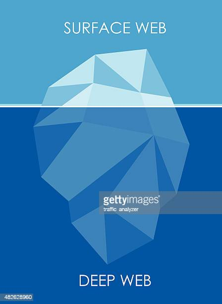 concept of deep web - iceberg - iceberg ice formation stock illustrations