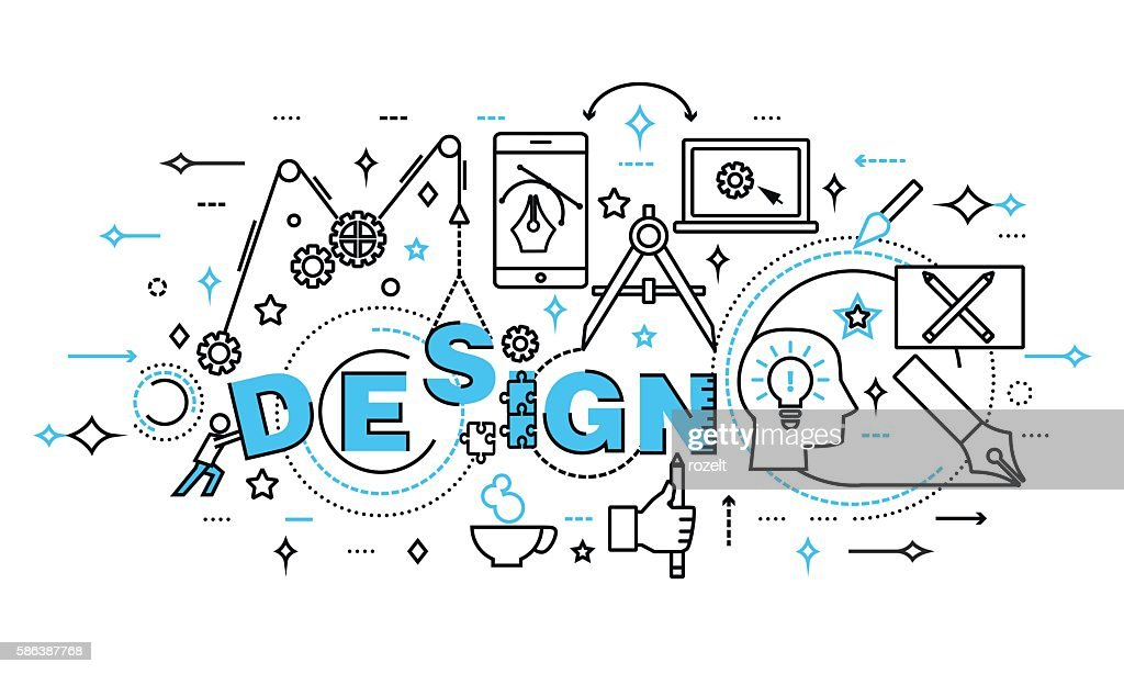 Concept of design process and web development
