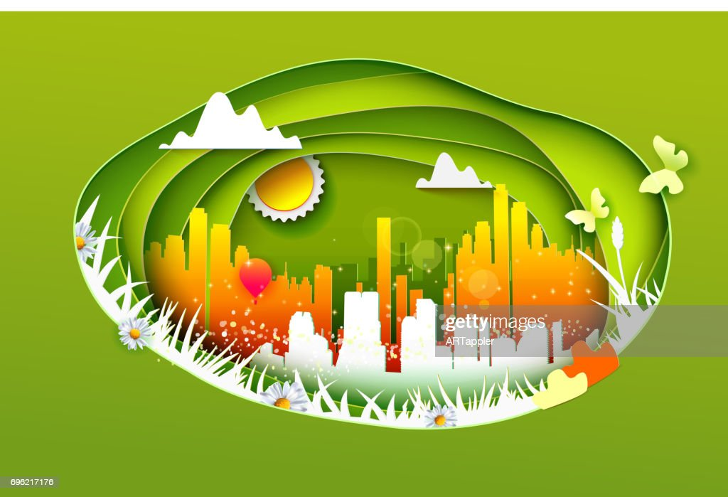 Concept of eco life style city