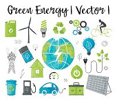 Concept of ecology and green energy