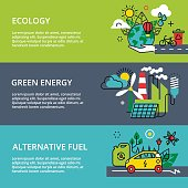 Concept of ecology problem, green energy and alternative fuel