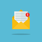 Concept of email notification icon.