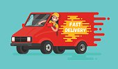 Concept of  fast delivery of goods.