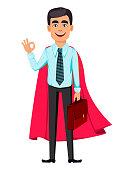 Concept of handsome confident business man