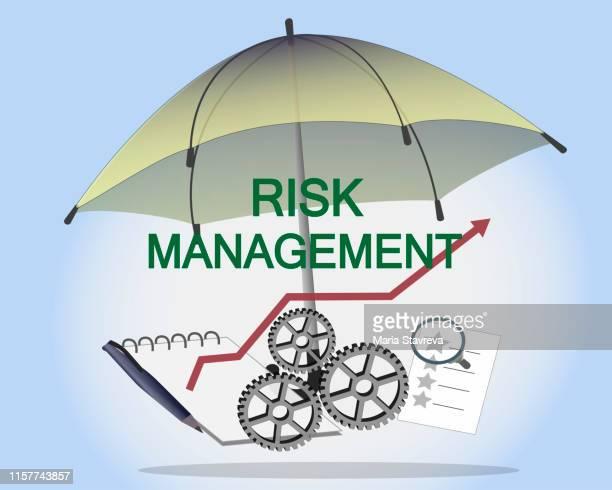 リスク管理の概念戦略,リスク管理,評価,計画,レビュー,評価,分析 - リスク管理点のイラスト素材/クリップアート素材/マンガ素材/アイコン素材