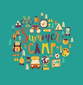 Concept of summer camp.