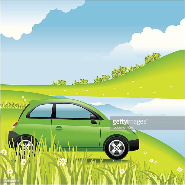 concept, outdoors - compact car stock illustrations, clip art, cartoons, & icons