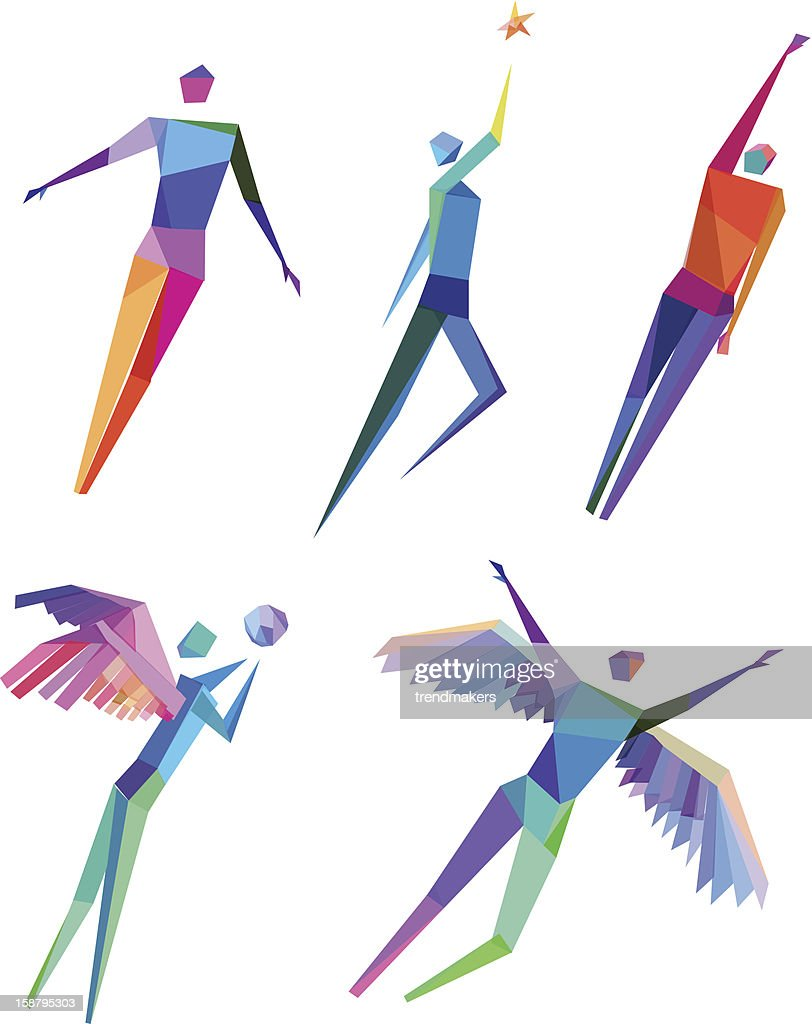 Concept Polygonal People