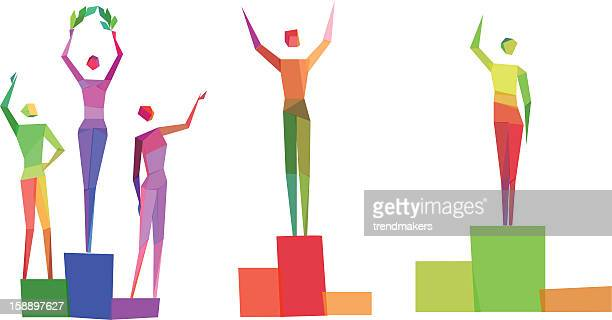 Concept polygonal people