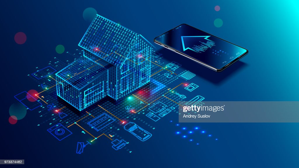 IOT concept. Smart home. Internet of things