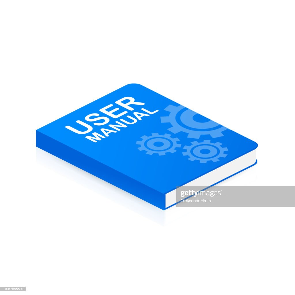 Concept User manual book for web page, banner, social media. Vector illustration