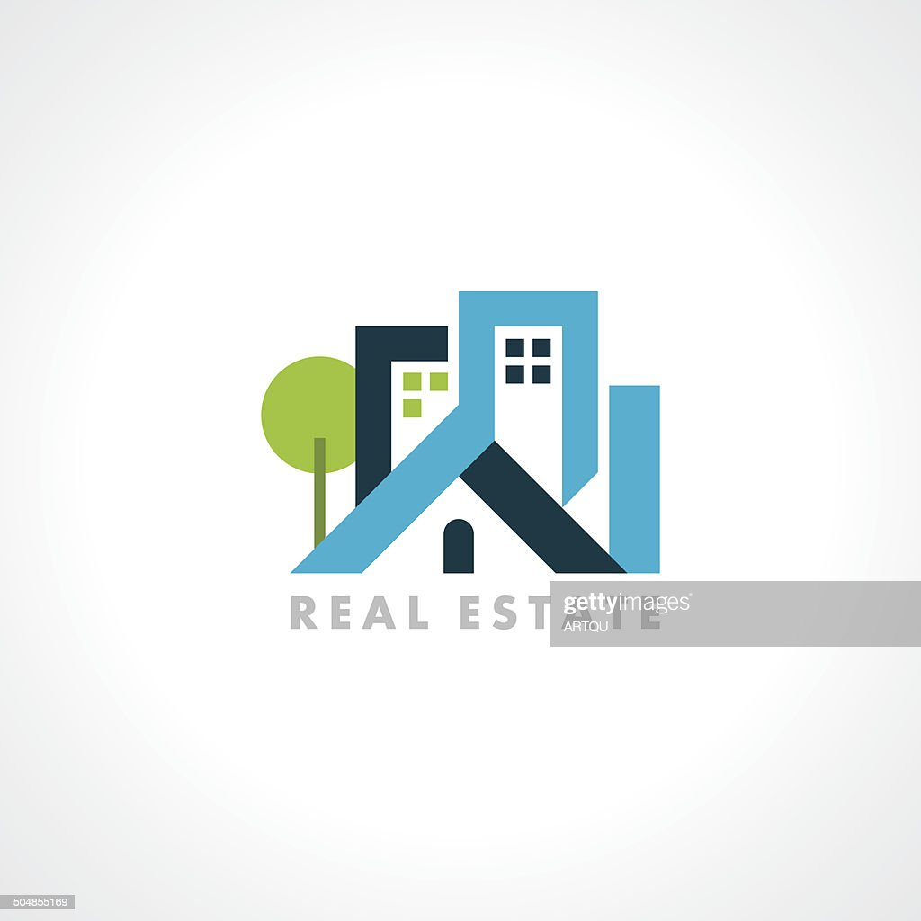 concept vector icon design template for Real estate