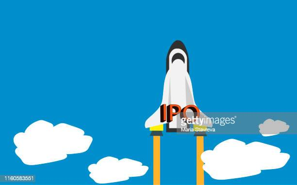 ipo concept. - initial public offering stock illustrations