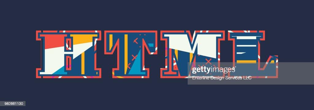 HTML Concept Word Art Illustration