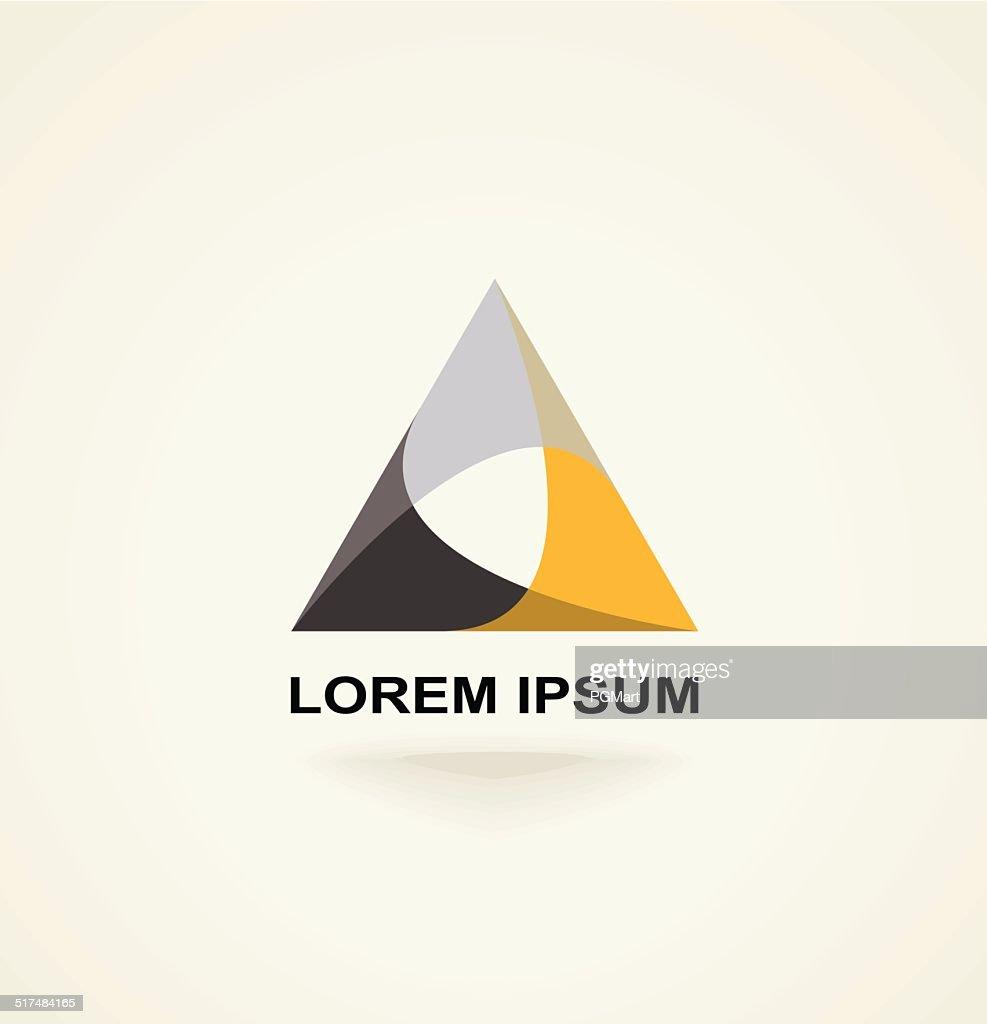 Conceptual creative technology vector abstract triangle icon template logo