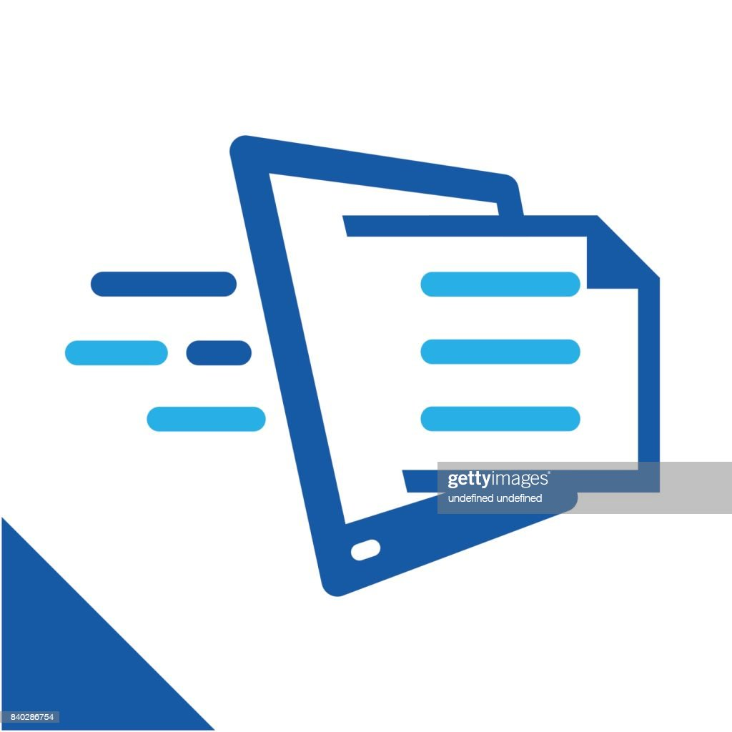 conceptual illustration icon to quickly get document, relating to the business of managing digital document services.