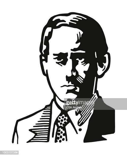 concerned man - humourless stock illustrations, clip art, cartoons, & icons