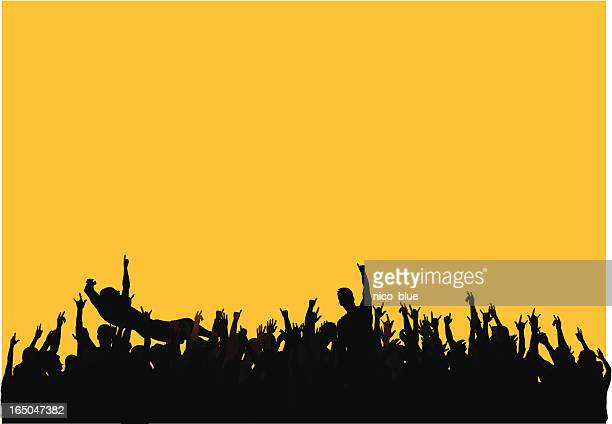 concert crowd - music festival stock illustrations