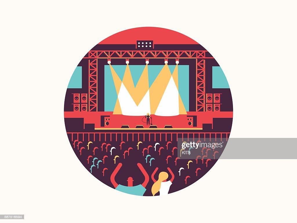 Concert design flat