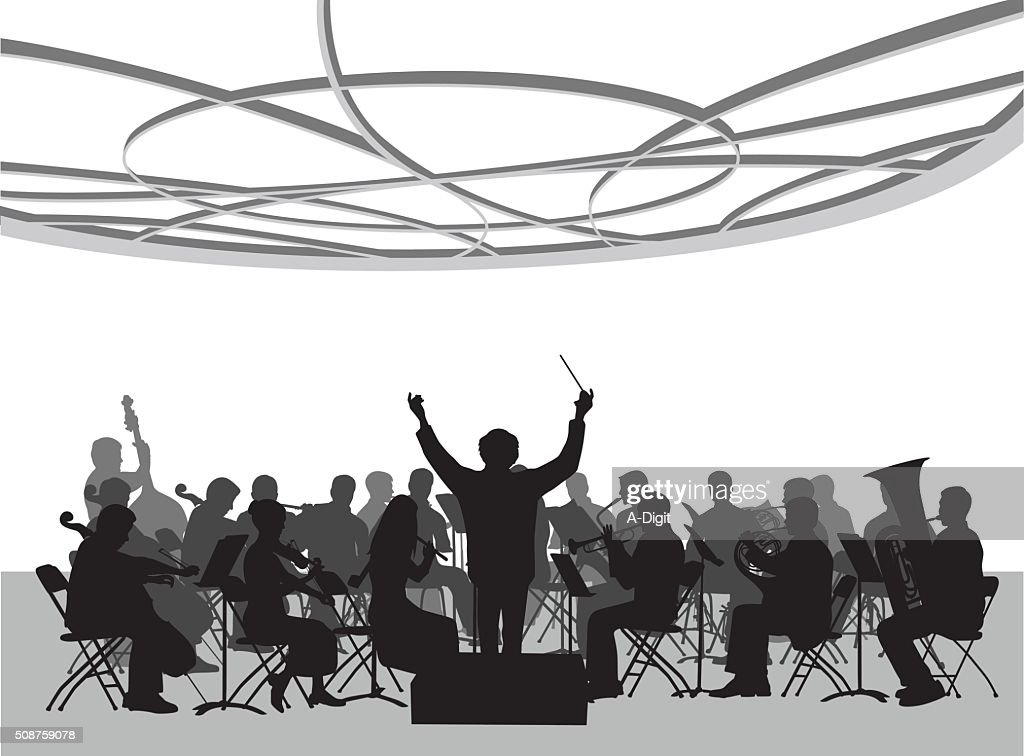 Concert Hall Orchestra Illustration