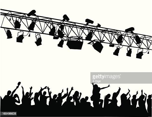 Concert Lighting Vector Silhouette