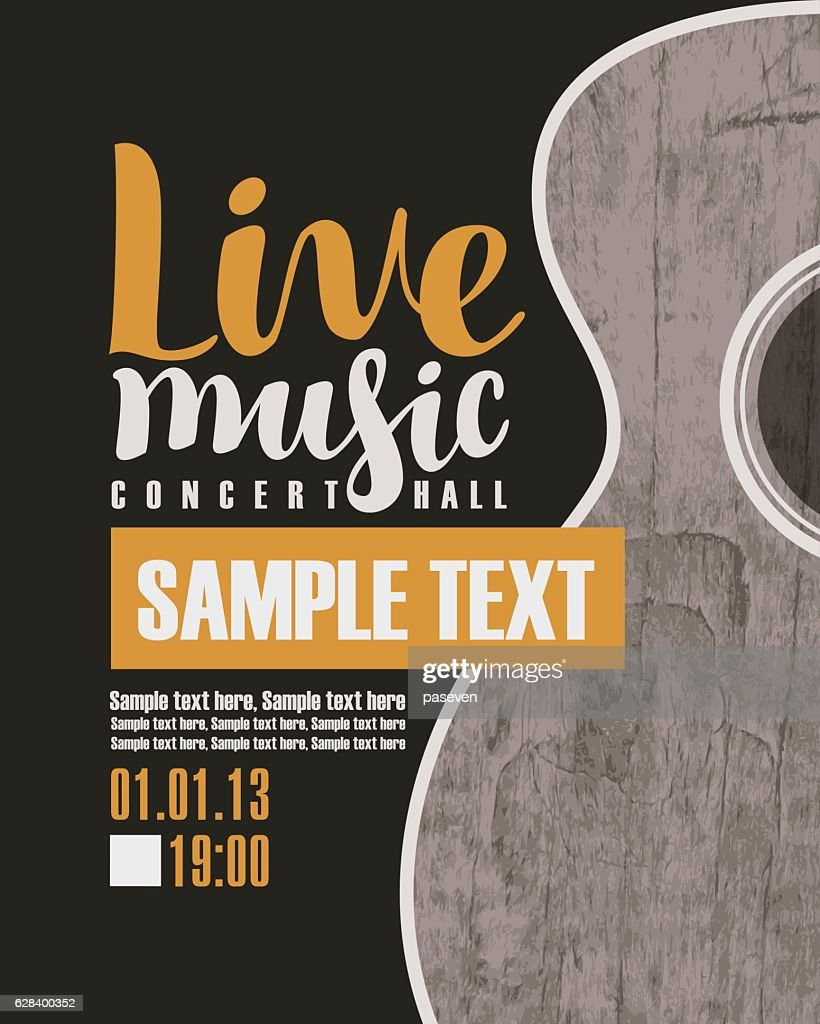 concert live music with a guitar